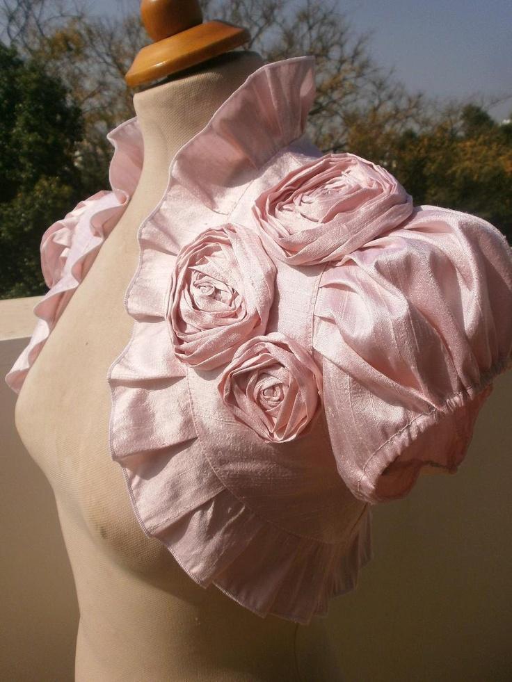 Silk Dresses Pale Pink Dupioni Silk Bolero Jacket