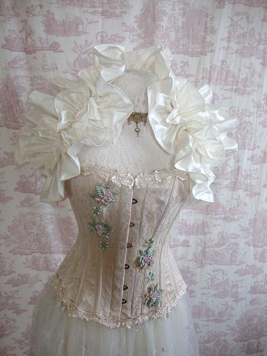 Hochzeit - Gothic Steampunk Bolero Braut Lolita Burlesque Goth PURITAE Silk Hochzeits-Bolero von Aphrodites Folly