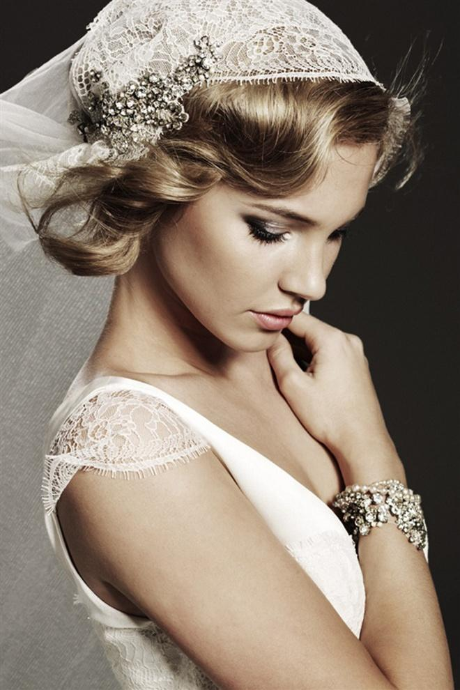 زفاف - غطاء الرأس غريس كيلي مستوحاة