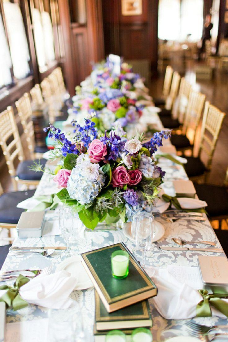 Wedding - A Blue And Green Literature Themed Wedding