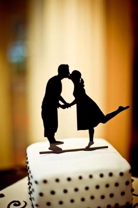 Custom Silhouette Wedding Cake Topper In Acrylic Made From Your ...