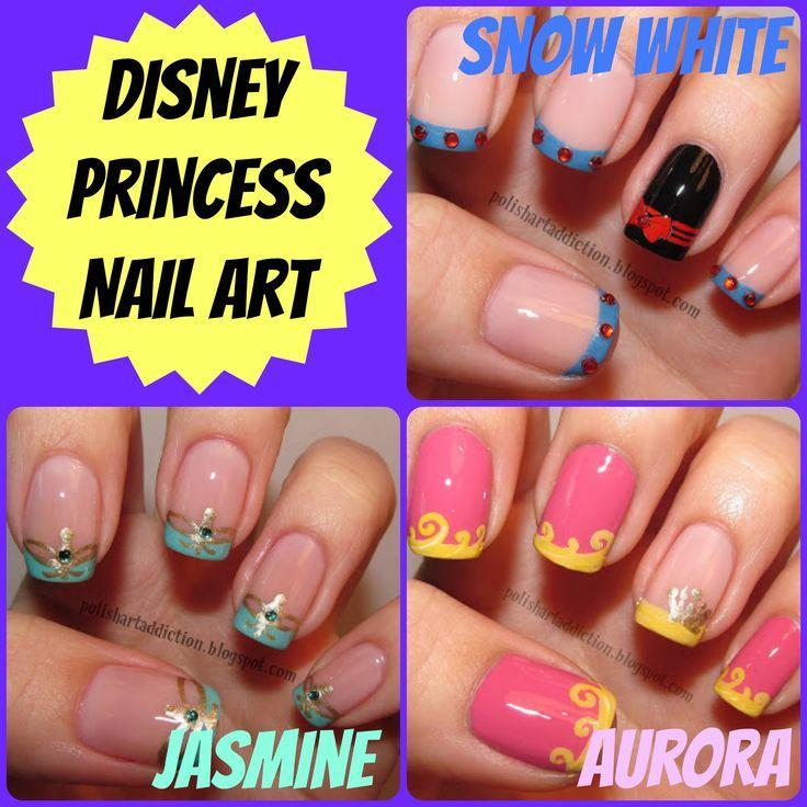 Dress Disney Princess Nails: Schön Wie Eine Prinzessin: Disney-Nagel-Kunst-Ideen