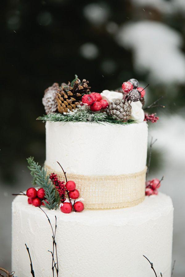 Tier Winter Wedding Cakes Ideas