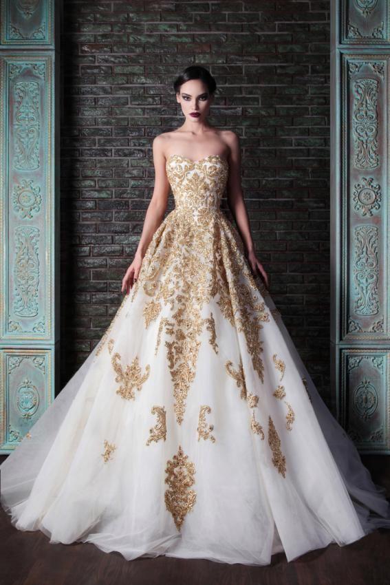 Gold Wedding - Beautiful Gold Wedding Gown. Rami Kadi #2046593 ...