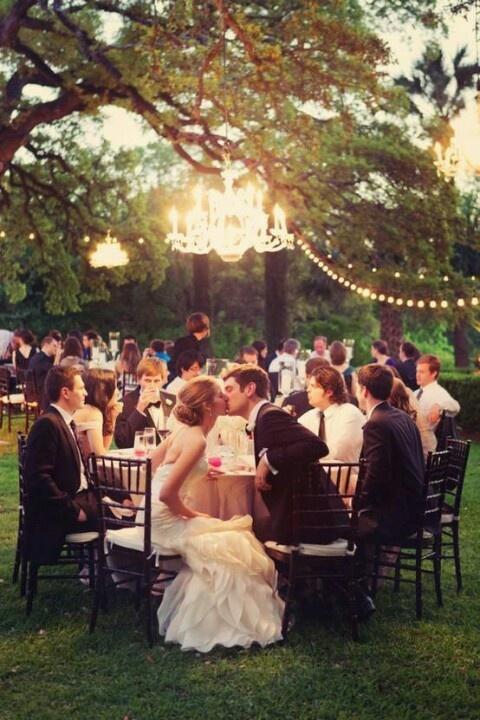 Wedding - Outdoor Chandelier Wedding