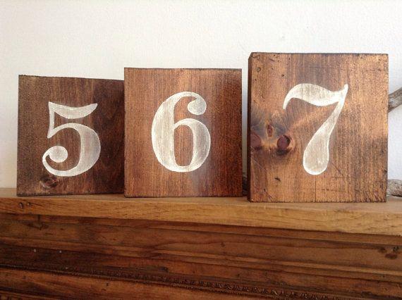 Hochzeit - Rustikale Holz Zahlen, die Zahlen, die Hochzeits-Tabellen-Zahlen, Holz Zahlen, Ländliche Hochzeit