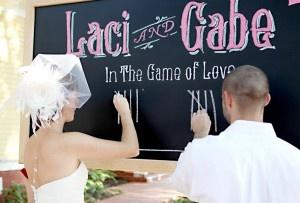 DIY Chalkboard As A Wedding Backdrop