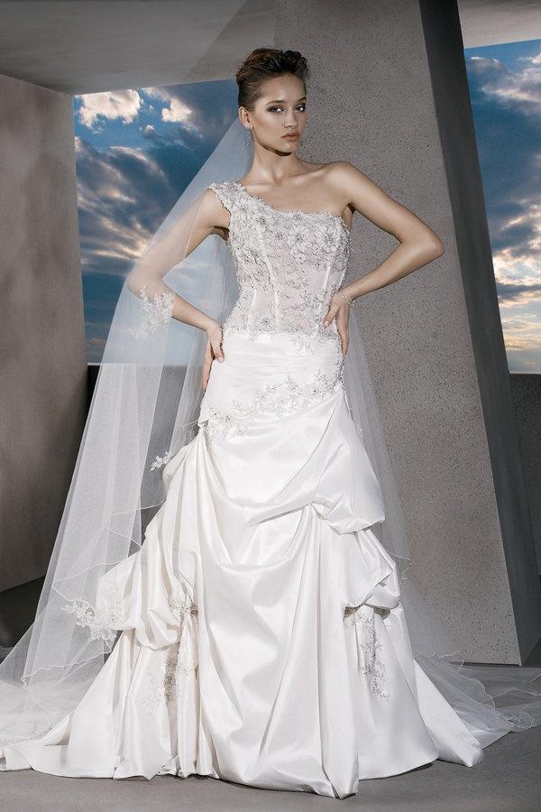 One Shoulder Strap Wedding Dress Inspiration 2046814 Weddbook