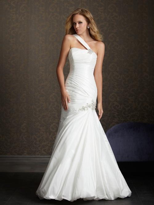 One shoulder strap wedding dress inspiration 2046818 for Wedding dresses one strap
