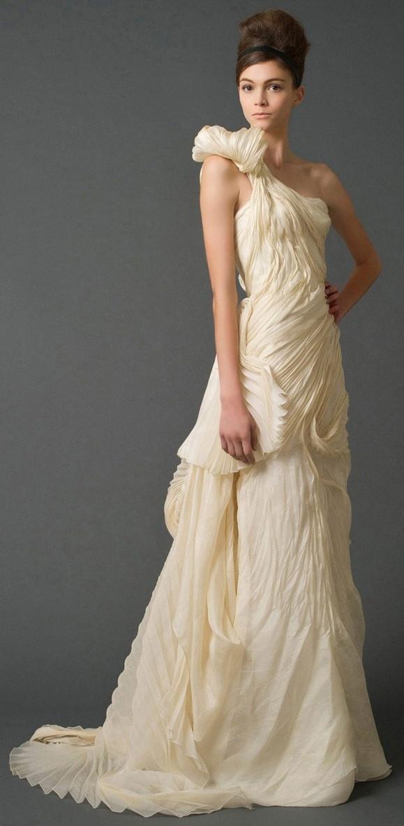 One Shoulder Strap Wedding Dress Inspiration 2046823 Weddbook