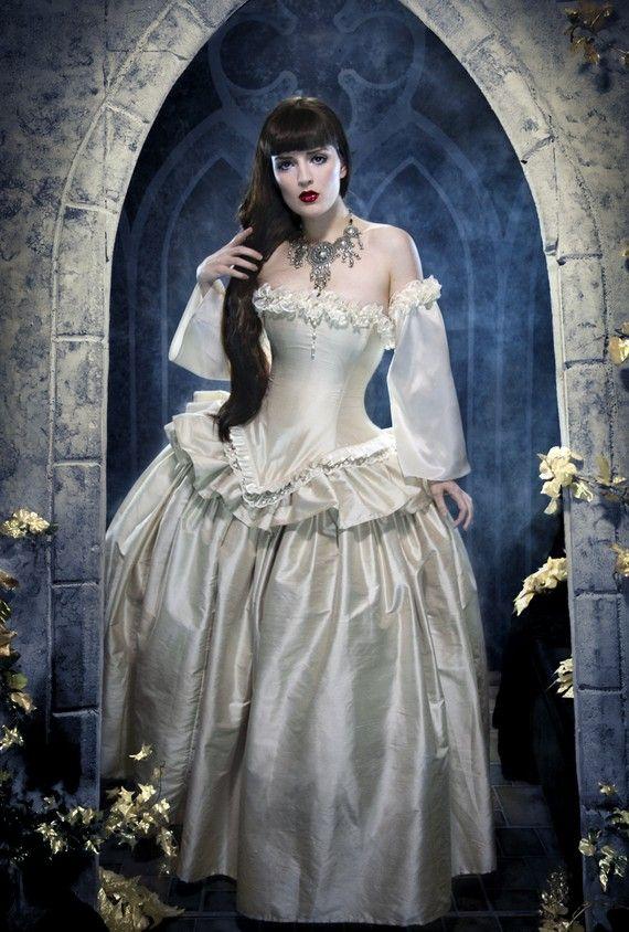 Wedding - Cinderella Wedding Dress - Alternative Bridal Gown- Fairytale Fantasy Ballgown In Silk -Custom To Order