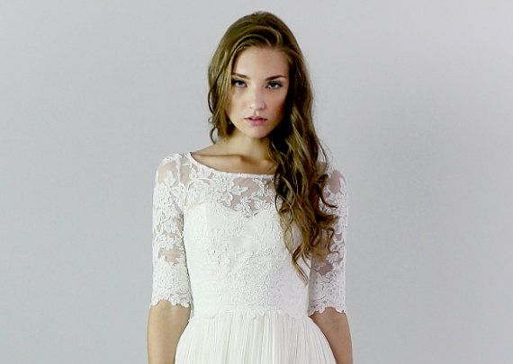 Heloise Lace Wedding Top Separate