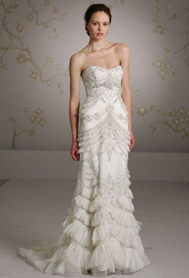 Dress Lazaro Wedding Gowns 2047164 Weddbook
