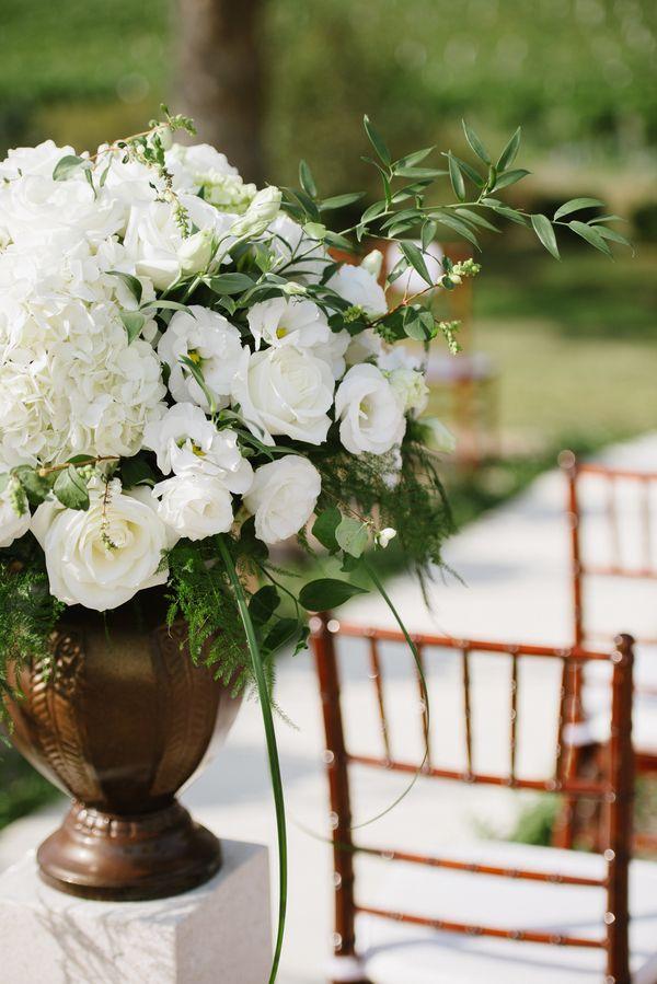 Wedding - Elegant White Altar Arrangement