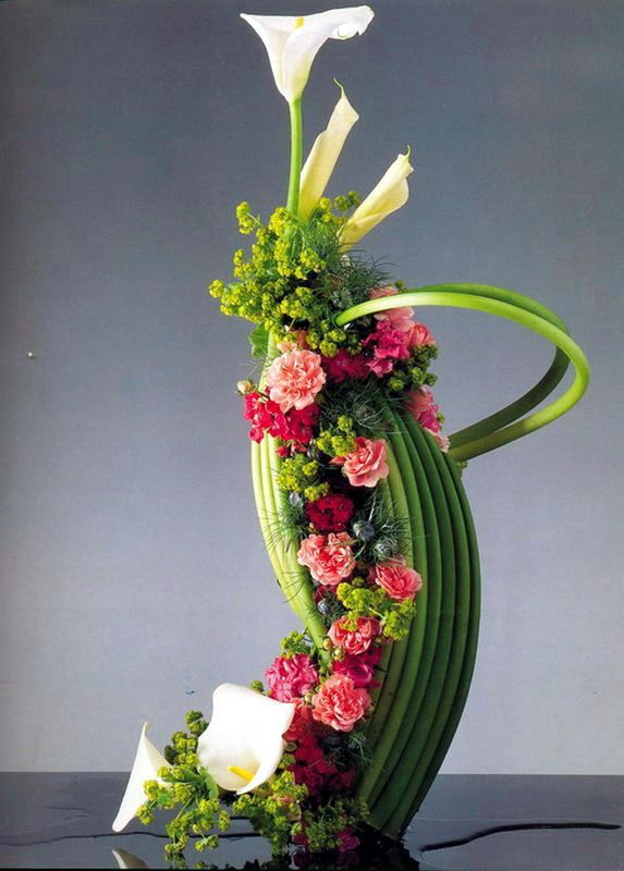 1000 images about floral arrangements on pinterest for Floral arrangements for wedding reception centerpieces