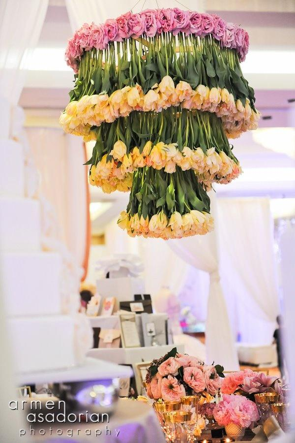 Centerpieces tulip and rose chandelier 2047396 weddbook tulip and rose chandelier aloadofball Image collections