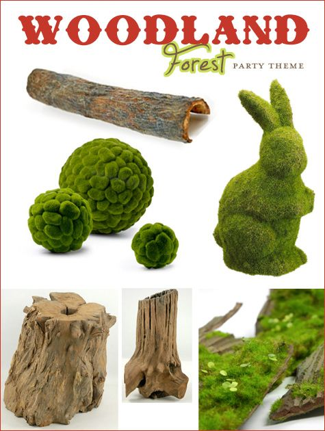 Mariage - Woodland Forest Party Theme - Partie 1 {Woodsy Elements & Toadstools