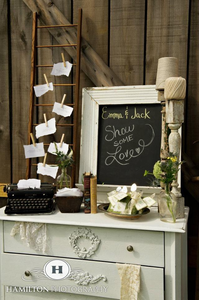 Guest Book Table Using Typewriter Idea