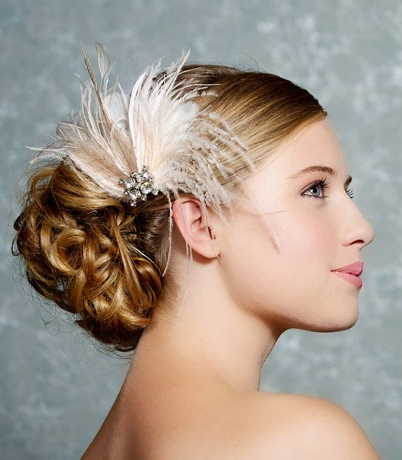 Ivory Bridal Headpiece Bridal Fascinator Wedding Hair