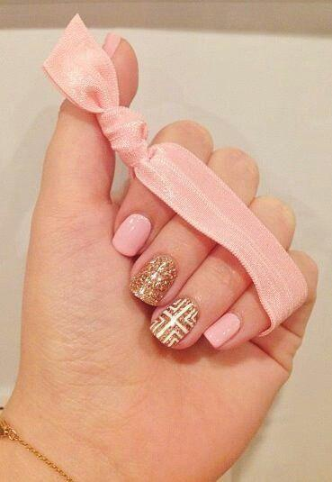 Wedding nail designs nail art pink gold manicure 2048085 nail art pink gold manicure prinsesfo Choice Image