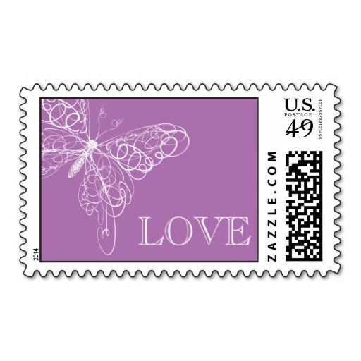 Свадьба - Сияющий Орхидея-Бабочка ЛЮБОВЬ Штамп