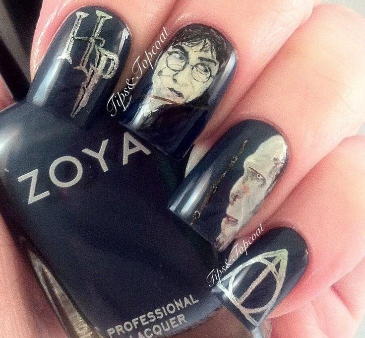 Wedding Nail Designs Harry Potter Nail Art 2048106 Weddbook