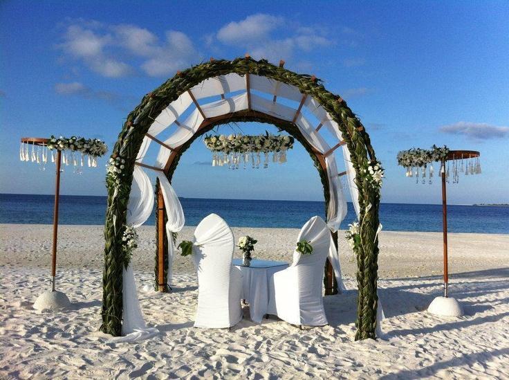 Honeymoon Decoration In Maldives : Destination Wedding - Maldives Wedding Decor #2048222 - Weddbook