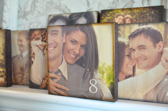 Wood Wedding Table Number Photo Custom Blocks Set Of 24 Centerpieces Frames