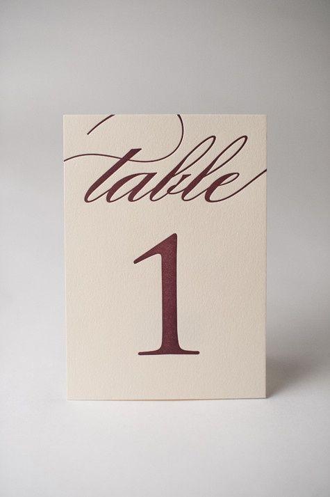 Wedding - Wedding Table Numbers