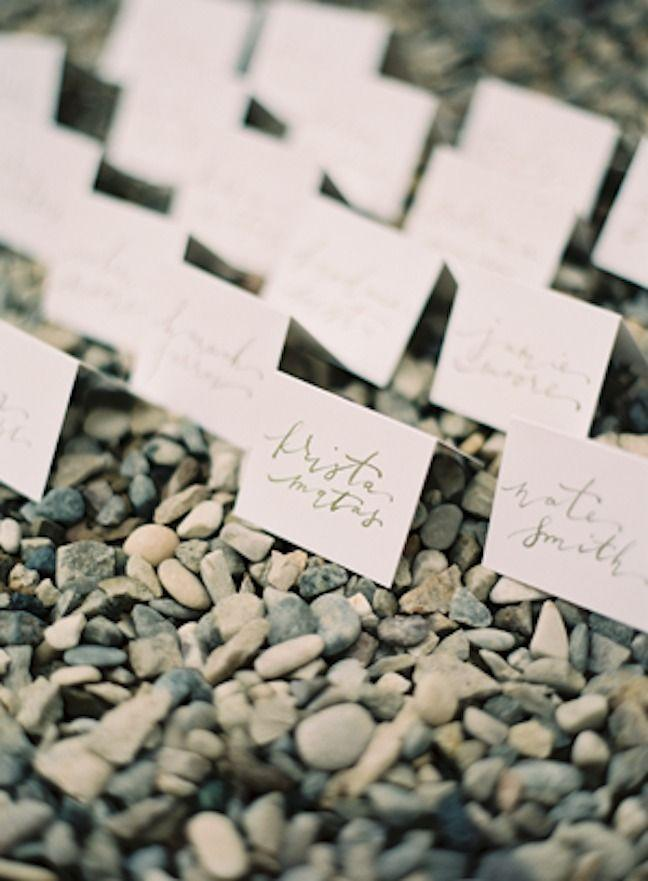 Mariage - Simple Calligraphie Cartes d'escorte