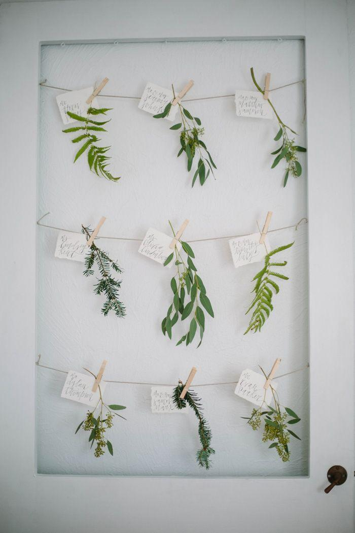 Wedding - Botanical Escort Cards