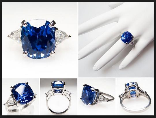 Mariage - Natural Blue Diamond Engagement Ring