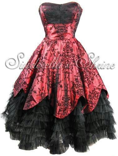 Gothic Wedding Gothic Black Red Wedding Dress 2048439 Weddbook
