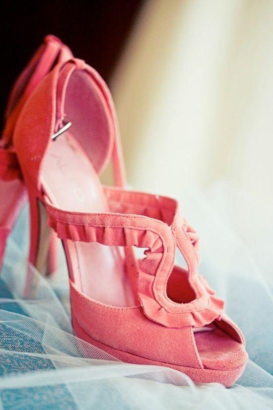 Wedding - Coral Wedding Shoes!