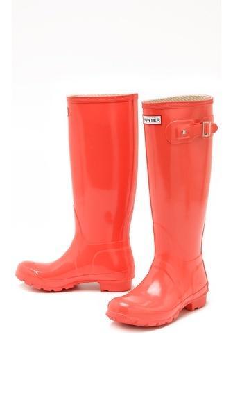 Coral Wedding - Hunter Gloss Rain Boots #2048511 - Weddbook