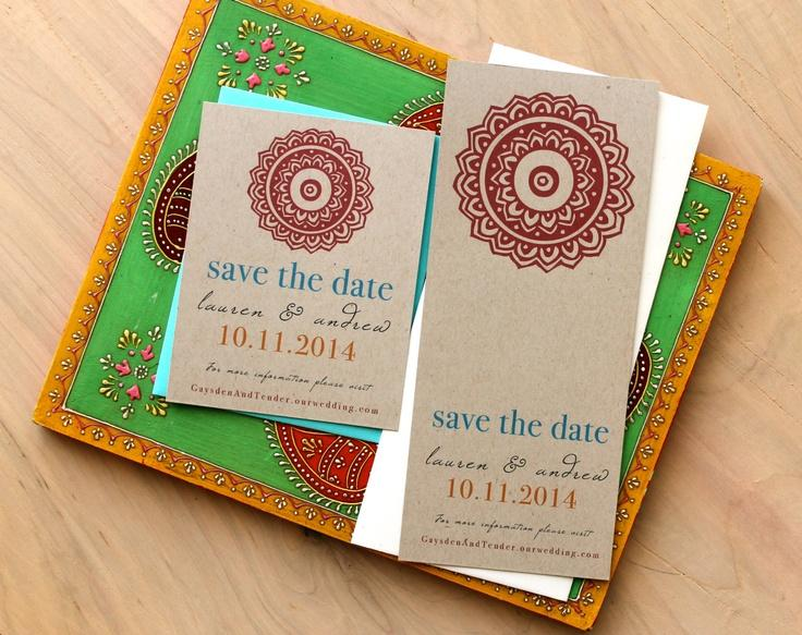 Wedding Henna Love Save The Date Cards