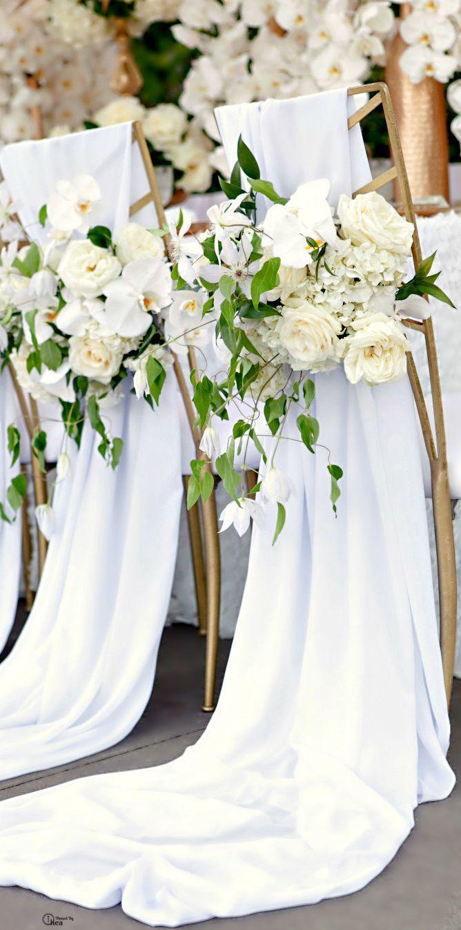Wedding - Tablescape ● Chair Decor