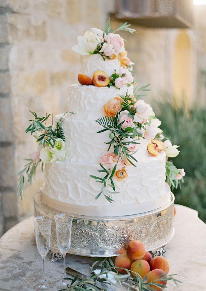 Peach Wedding Peach Cake 2048605 Weddbook