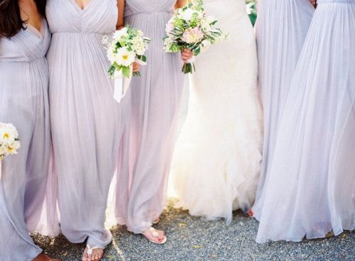 Pastel Lavender Bridesmaid Dresses