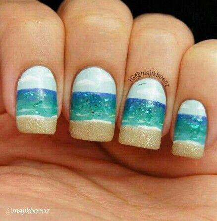 Beach Nail - Wedding Nail Designs - Beach Nail #2049148 - Weddbook