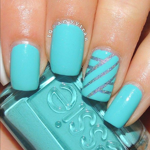 With Striping Tape Nail Art Ideas: Striping Tape Mani Amyytran #2049191