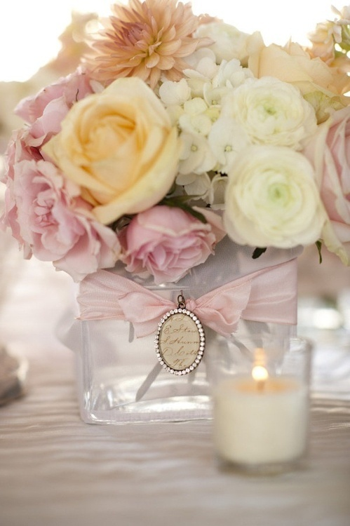 Wedding - Pretty And Feminine Centerpiece