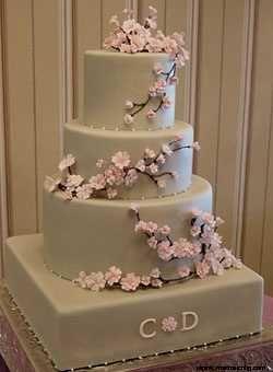 Hochzeit - Cherry Blossom Wedding Cake