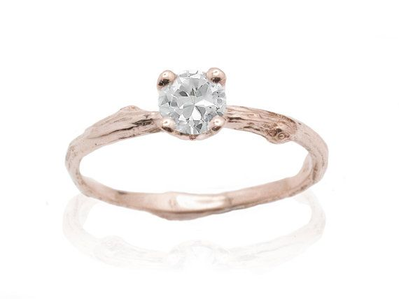 Rose Gold Ring White And Rose Gold Ring Settings