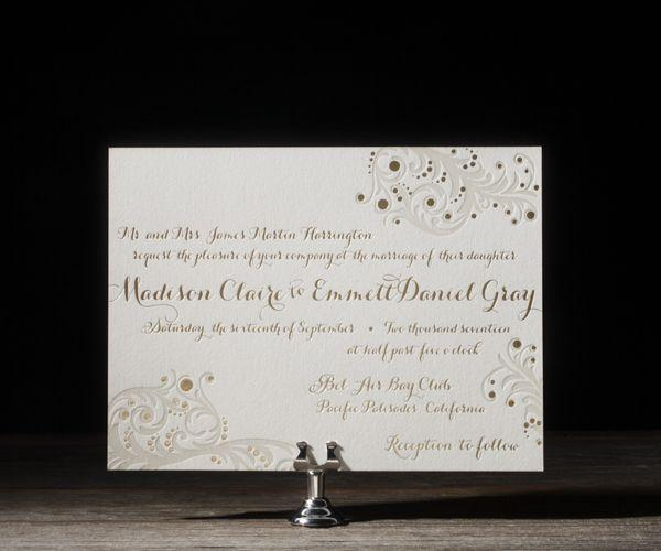 Wedding - Invitation Paper Gold