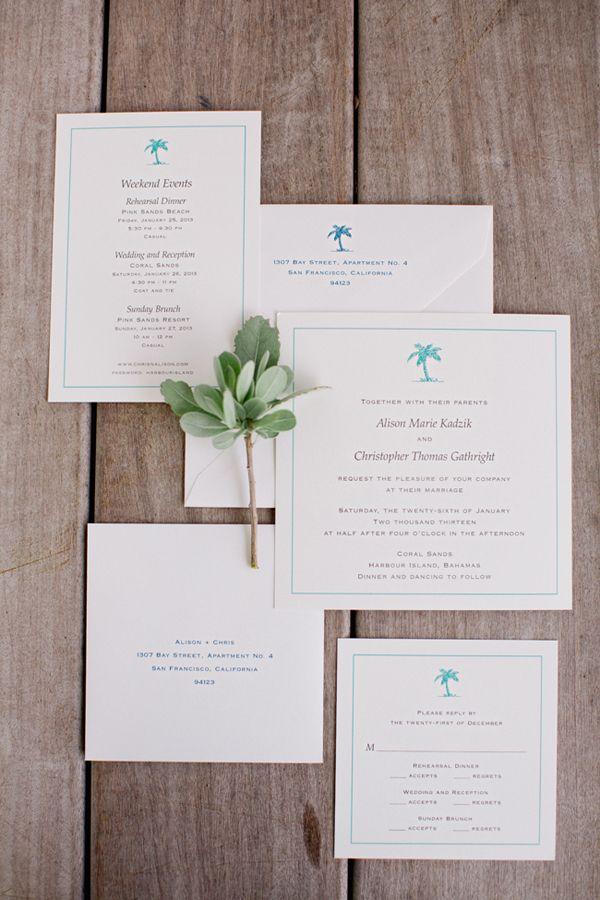 Свадьба - Тропический Приглашения И Канцелярских Товаров