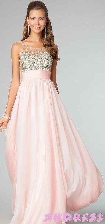 Blush Hochzeit - Rosa Kleid Rosa Kleider #2049707 - Weddbook
