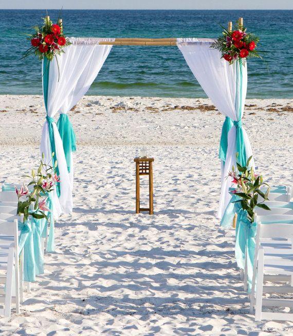 Beach Wedding Bamboo Arbor Arch Chuppah Altar