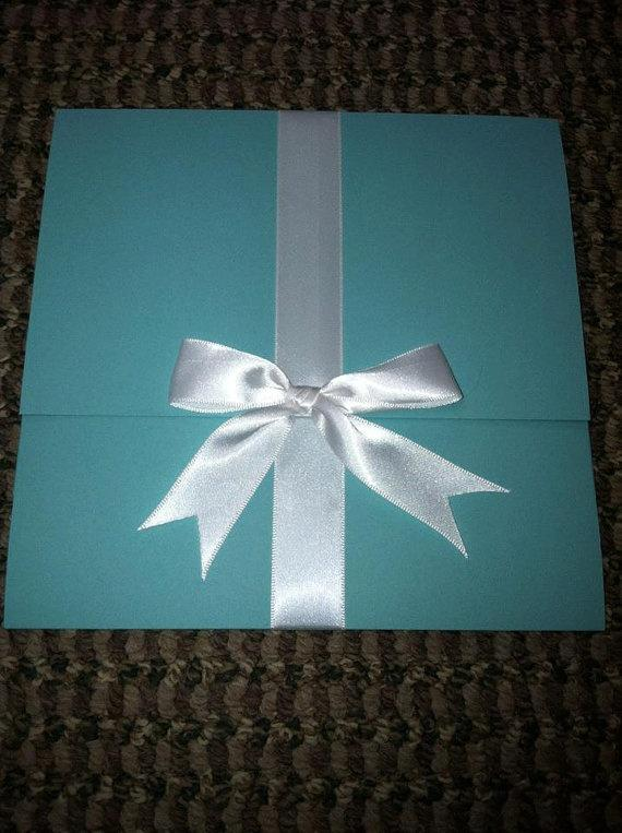 Tiffanys Themed Wedding Invitation Suite 30 Invitations 2049771