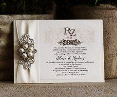 sale custom wedding invitation with metallic paper pearl and